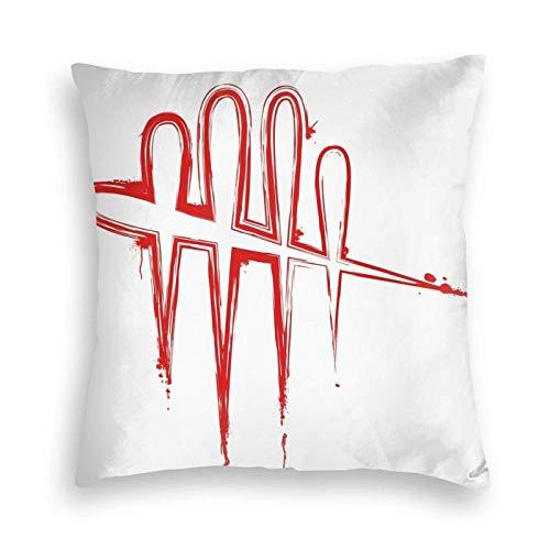 WH-CLA Cushion Cover Dead by Daylight Bloody Logo Fundas De Almohada De Sofá Duraderas 45X45Cm Fundas De Respaldo Fundas De Cojín De Sofá Únicas Fundas De Cojín De Sofá De Anime Suave In