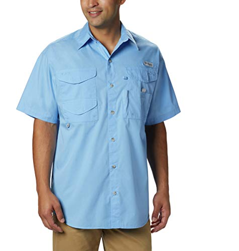 Columbia Men's Bonehead Short-Sleeve Work Shirt, Comfortable and Breathable, White Cap, X-Large
