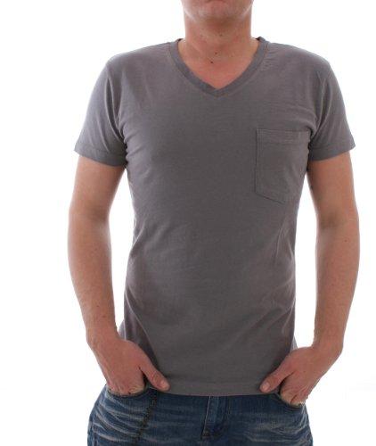 RVLT Revolution Denzel Herren T-Shirt grau Gr. S