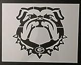 Bulldog Bull Dog Georgia Bulldogs 11' x 8.5' Custom Stencil Arts and Crafts Scrapbooking Painting on The Wall Wood Glass