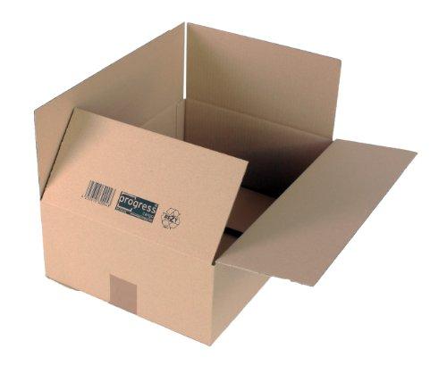ProgressCargo PC K10.14 - Confezione da 20 scatole pieghevoli in cartone ondulato, formato A3+, 42,7 x 30,4 x 15 cm, colore: Marrone