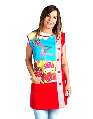 Gary's Scamiciato Maestra CAPERUCITA, Multicolore, Chiusura a Bottone (L)
