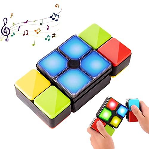 Pup Go Cubo mágico electrónico con música y luces coloridas, juego de rompecabezas cumpleaños, juegos de mesa familiares,consola portatil,game boy viaje juguetes educativos para niños de 6 a 12 años