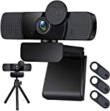Webcam with Dual Microphone for Desktop,1080P HD USB Webcam Live Streaming Laptop PC Computer Web Camera for Video Calling Conferencing Business Recording Gaming, 3D Noise Reduction