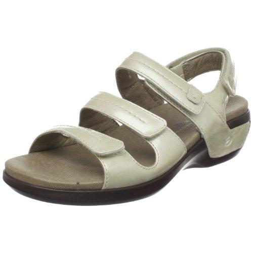 Aravon Women's Keri Flat Sandals, Beige, 8