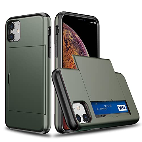 Oihxse SGP Ranura Tarjeta Funda Compatible con Samsung Galaxy S20 Plus/S11, con Diapositiva Tapa Oculto Ranura para Tarjeta, Dura PC y TPU Antichoque Double Protection Case