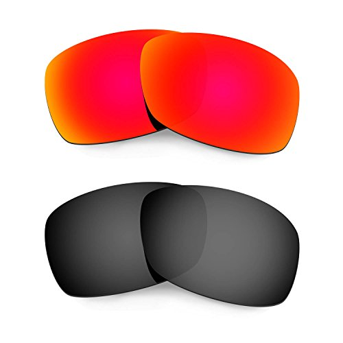HKUCO Plus Mens Replacement Lenses For Oakley Hijinx Sunglasses Red/Black Polarized