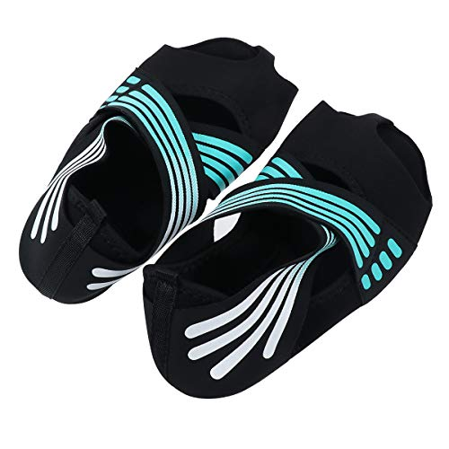ABOOFAN 1 par de calcetines de yoga no suaves, diseño de cinco dedos para adultos (tamaño 35/36 yardas)