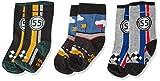 Melton Baby-Jungen 3Er Pack Söckchen Socken, Mehrfarbig (Baby Boy 088), 22 (Herstellergröße: 20-22)