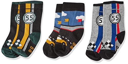 Melton Baby-Jungen 3Er Pack Söckchen Socken, Mehrfarbig (Baby Boy 088), 19 (Herstellergröße: 17-19)
