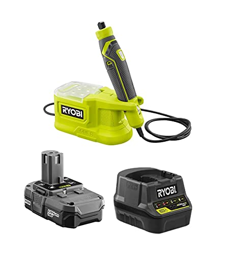 RYOBI 18-Volt Cordless Precision Rotary Tool (PRT100B) Kit with Battery and Charger, (No Retail Packaging, Bulk Packaged)