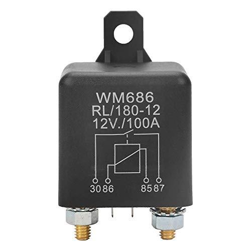Relé de control de batería de coche - WM686 100A Relé de arranque de coche de servicio pesado abierto normal para batería de control ON/OFF RL / 180 DC 12V
