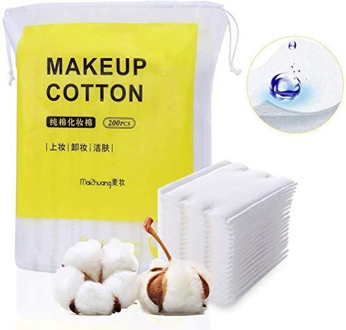 Tampons de coton de maquillage 200PCS, tampons de coton pour le démaquillant cosmétique pour le visage