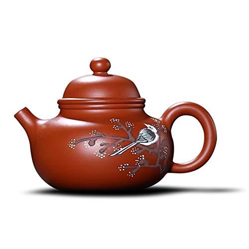 STZSHION China Hand Geschilderd Magpie Tradition Purple Zand Pot Zi Sha Theepot Antieke Keramische Theepot Chinese Stijl Gift, 190cc (Size : 190cc)