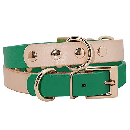 JHGJHG Collar de Perro Pet Collares DE Perros  Accesorios Ajustables para pequeños Perros medianos Cats Pug Beagle Productos DE Pet (Color : Green, Size : S01)