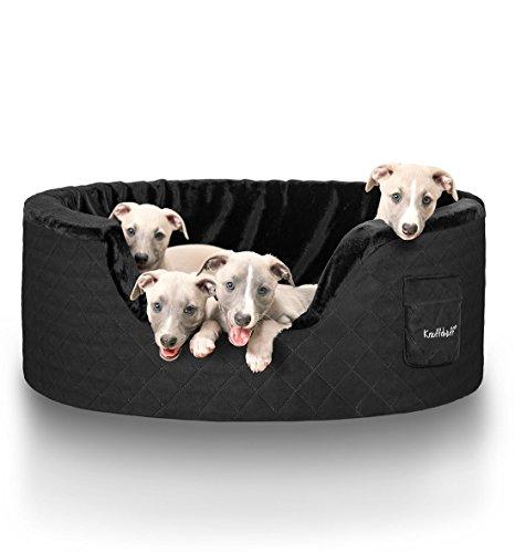 Knuffelwuff 12746 Hundebett Henry aus 5 cm Schaumstoff - Größe XXL, 100 x 80 cm, schwarz