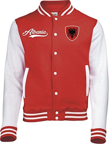 Aprom-Sports Albanien College Jacke - Retro - ROT -1- (L)