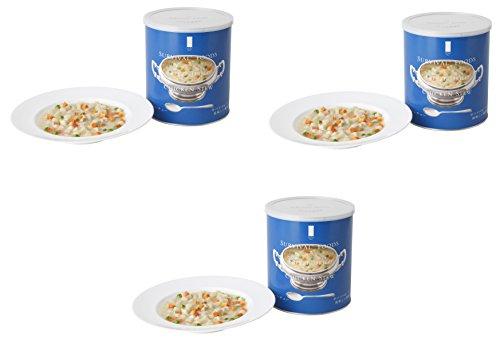 25年保存可能 【サバイバルフーズ】 小缶 チキンシチューx3缶(3缶セット・7.5食相当) <Seishop> (#2&Half(小缶))