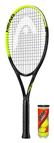 HEAD Tour Pro - Raqueta de tenis de titanio (incluye funda protectora y 3 pelotas de tenis, tamaño L2)