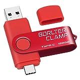 Clé USB Type C 128 Go, BorlterClamp Mémoire Stick Double Connecteur USB C 3.0 U...