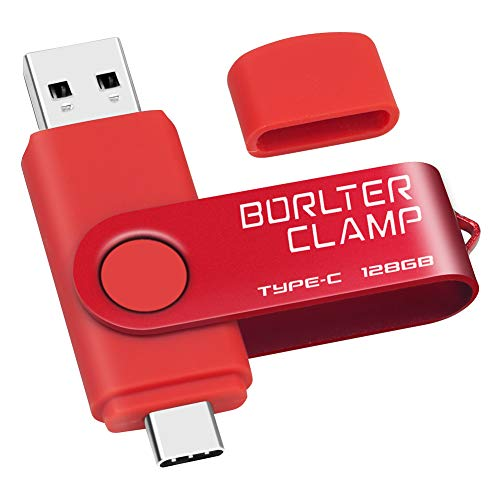 128GB Memoria USB Tipo C, BorlterClamp Doble Unidad Flash (USB C y...
