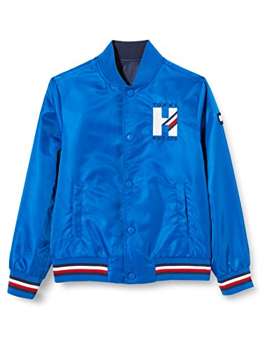 Tommy Hilfiger Boy's Omkeerbare Th Logo Bomber Jas