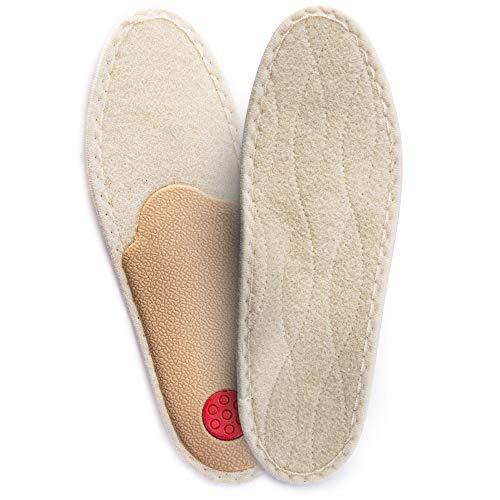 SULPO Plantillas ortopédicas para invierno, extra cálidas, con inserciones de lana contra el pie plano, tallas 35-46