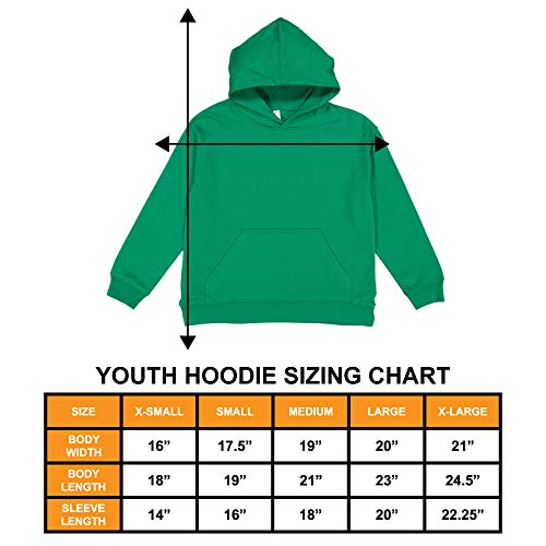 Types of Trucks - Garbage Monster Fire Toddler/Youth Fleece Hoodie (Light Gray, Small (Youth))