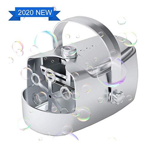 Máquina de burbujas automático, portátil ventilador de la burbuja para niños al aire libre, juguete del baño del bebé Bubble Maker, USB con pilas de Jardín Juego, banquete de boda, cumpleaños