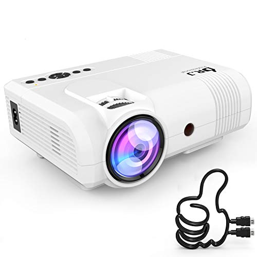 3800Lumens Portable Projector for Home Theater Entertainment, Full HD 1080P Supported Mini Projector HDMI AV USB Sound Bar Supported