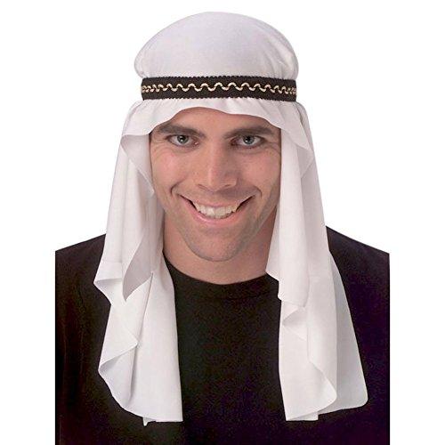 MyPartyShirt Arabian Mantle Casque Sheik Costume Prince du désert Arabe Sultan Hat