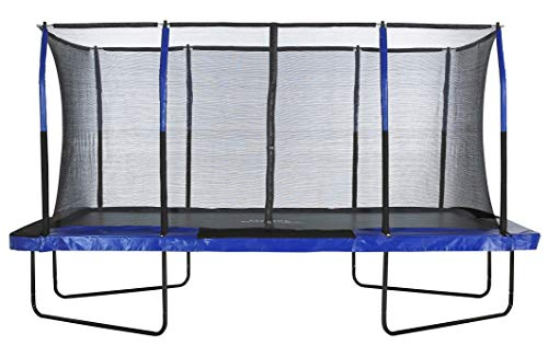 Upper Bounce Easy Assemble Spacious Rectangular Trampoline with Fiber...