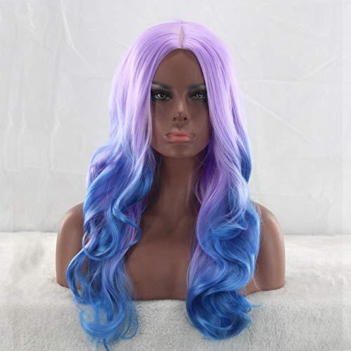 Grote golvende lang krullende haarkleur, 60cm, cosplay pruik, natuurlijke levensechte pruik, zijde met hoge temperatuur van chemische vezels, pruik gebruikt door vrouwen om deel te nemen aan prom en feest