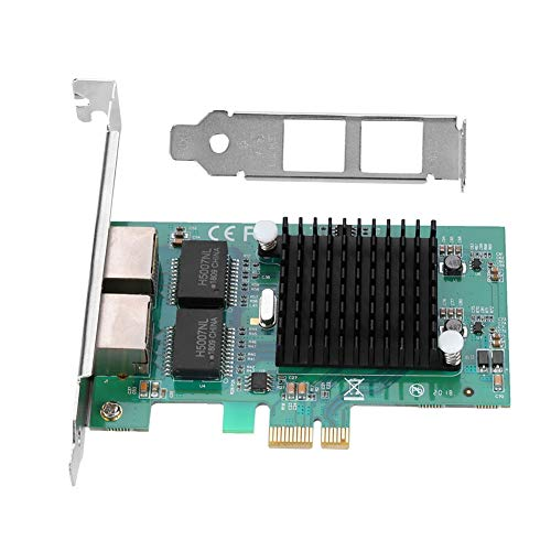 Tangxi Network Card, Intel 82575EB Dual Port Gigabit Network Card PCI-EX up to 1000Mbps Network Card with Dual Filter for Windows, Linux,Other Mainstream Systems Multiple Models Notebook,Tablet,etc