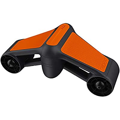 G Geneinno S1-Pro Underwater Sea Scooter Dual Motors 2-Speed for Water Sports Swimming Pool Diving & Snorkeling with Action Camera Mount, Dive Up to164 ft, 4 mph, 45 mins running time, Orange (Orange)