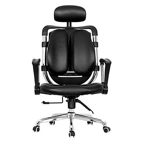 SMLZV Sillas de oficina, Sillas de vídeo del juego del juego for sillas de respaldo alto ergonómico compite con el asiento de cuero PU Silla Silla de oficina Gaming Computer Gaming Home silla cómoda f