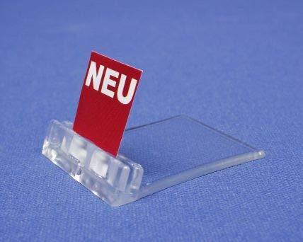 Preisschildständer | Schilderhalter 35x45mm für Preisauszeichnung auf Tischen, in Vitrinen etc. (glasklar)