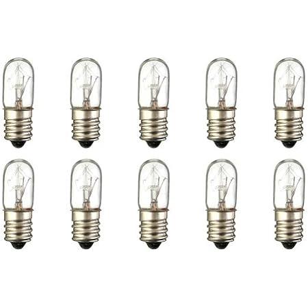 E12 Base Box of 10 120 V CEC Industries #3S-6//5 120V Bulbs 3 W S-6 shape