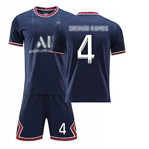 Weqenqing Camiseta De Rugby Azul Oscuro De Nueva París 2021, Camiseta De Rugby N. ° 4, Camiseta De Rugby + Pantalones Cortos, Camiseta De Rugby Personalizada Para Niños Adultos