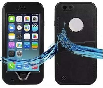 Funda acuática Sumergible Compatible iPhone 6 / 6S 5.5' protección Agua, Nieve, Polvo y caídas Waterproof mismas Funciones Que lifeproof Color Negro