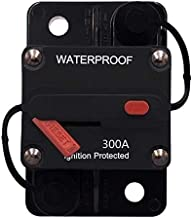 ANJOSHI 300 Amp Waterproof Circuit Breaker 30A-300A with Manual Reset Inline Fuse Holder for Amps Protection Marine Trolling Motors Boat ATV Manual Power Home Solar System Replace Fuses 12V-36VDC