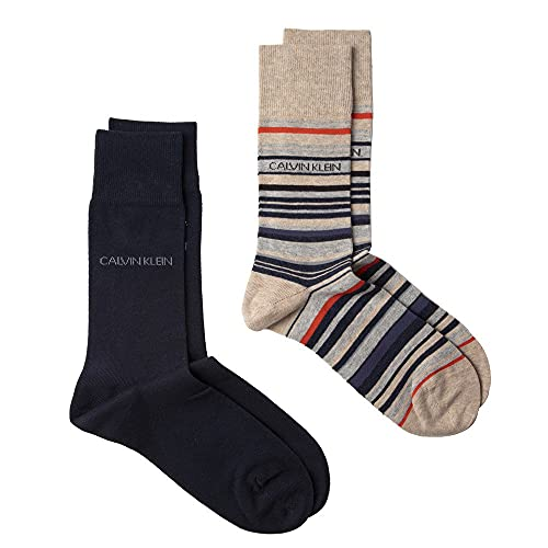Calvin Klein Herren Twin Pack Casual Socks Socken Mehrfarbig Lrg