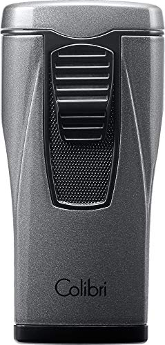 Colibri Monaco Triple-Jet Lighter - Metallic Charcoal