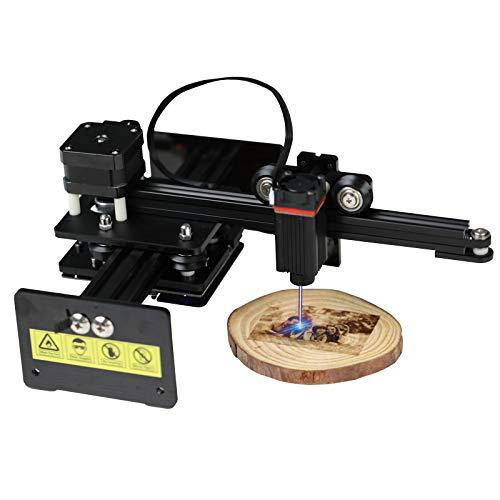 NEJE Master 2 - Mini grabadora láser de alta velocidad (control por aplicación inalámbrica, área de grabado, 110 x 120 mm, potencia de salida de 2,5 W)
