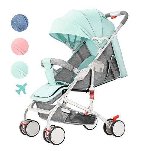 Poussette canne Ultra compacte Pliable Landau bébé - Pliage à Une Main - Siège inclinable - Voyage en Avion - du bébé à l'enfant en Bas âge