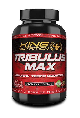 TRIBULUS MAX 90 caps KING NUTRITION Aumenta la Libido, la Recuperación, el Crecimiento Muscular y el rendimiento Sexual. 45 servicios
