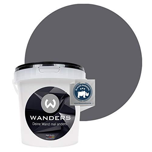 Wanders24® Tafelfarbe (1Liter, Graphitgrau) Blackboard Paint - Tafellack - abwischbare Wandfarbe - in 20 Farbtönen erhältlich - Made in Germany
