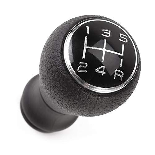 WOTEG - Pomo de palanca de cambios, 5 velocidades, manual para Citroën C1 C3 C4 / Peugeot 106 107 205 206 207 306 307 308 309 405 406 407 508 605 607 806 807 Cromo