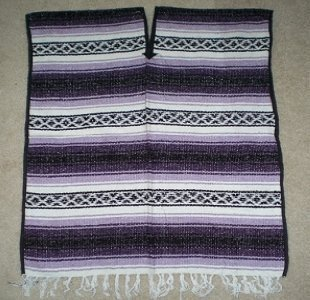 Mexican Blanket Poncho Costume (Purple) by CMFA