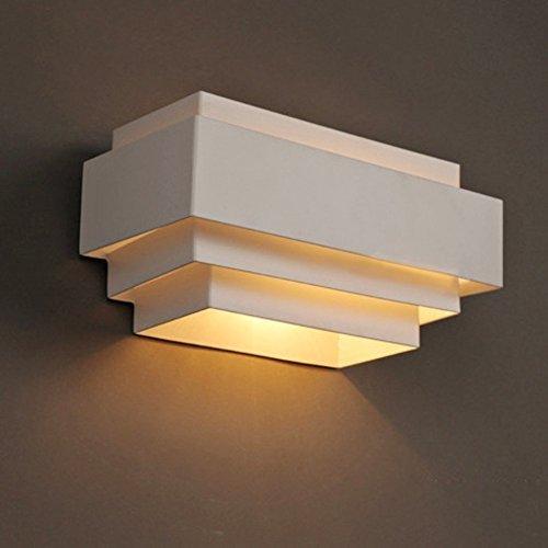 Lightessウォールランプ壁掛け照明ブラケットライト室内インテリア照明ベッドサイドランプ高輝度廊下寝室階段照明(方形)